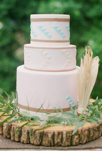 bohemian wedding cakes simple geometric cake Bryce Covey Photography