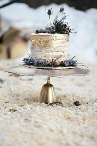 bohemian wedding cakes small gold cake Michelle Larmand Photography