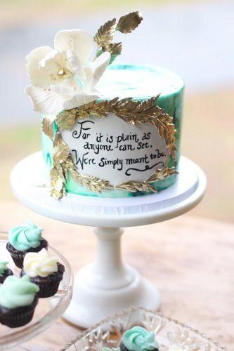 bohemian wedding cakes small green cake Starbird Bakehouse