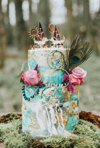 bohemian wedding cakes stylish boho cake CowAndCake