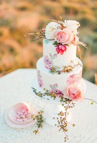 bohemian wedding cakes tender flower cake Anne Paar Photography