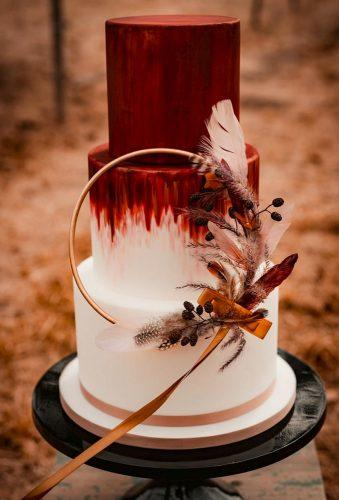 bohemian wedding cakes0red boho cake tiffanyjmaassen