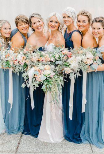 bohemian wedding photos bridesmaids blue dresses emmarosecompany
