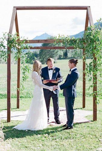 bohemian wedding photos wedding ceremony Shannon Von Eschen Photography