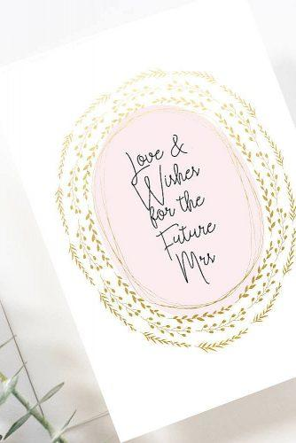 bridal shower wishes printable card example