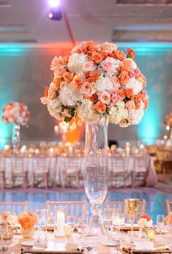 coral wedding decorations coral centerpiece inijephoto
