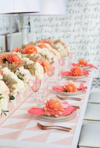 coral wedding decorations coral table decor lucy davenport