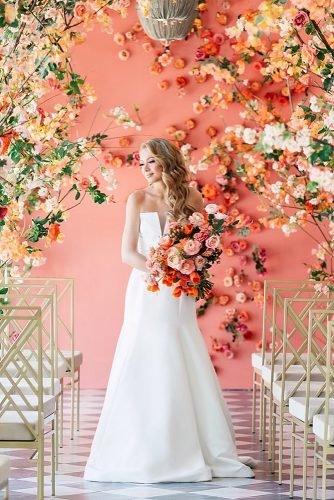 coral wedding decorations wedding bride with coral decor