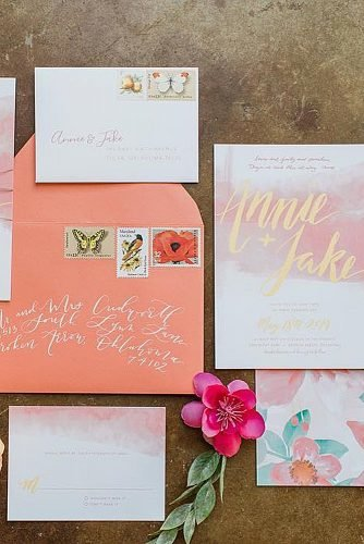 coral wedding decorations wedding invitations