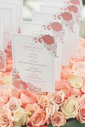 coral wedding decorations wedding programs