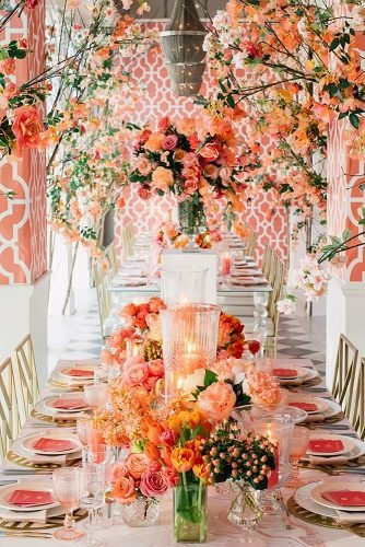 coral wedding decorations wedding reception decor
