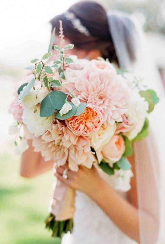 dahlias wedding bouquets blush wedding bouquet caroline tran