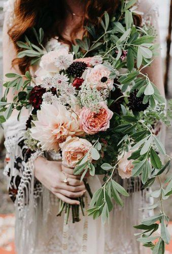 dahlias wedding bouquets boho bouquet blush dahlias Phil Chester
