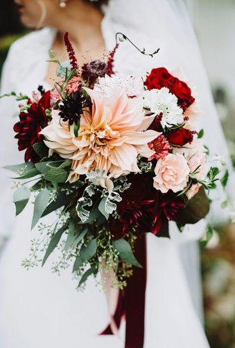 dahlias wedding bouquets boho dahlias bouquet With Love Embers