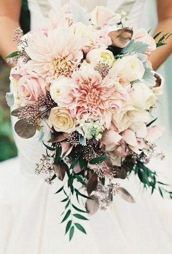 dahlias wedding bouquets cascade bouquet oliviasbridalhouse