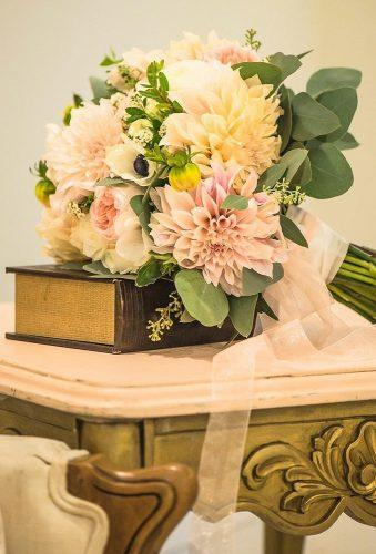 dahlias wedding bouquets classic bouquet with tape olgakubrakphotography