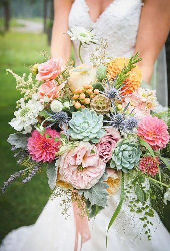 dahlias wedding bouquets colorful bouquet Beargrass Gardens Floral Events
