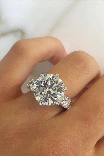 engagement ring inspiration solitaire diamond -round cut