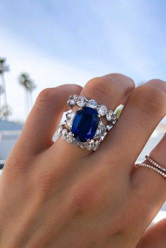 engagement ring inspiration three stones sapphire set