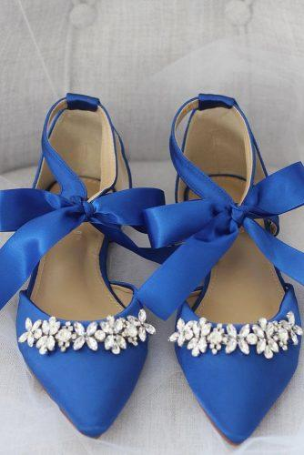 flat wedding shoes navy coloed with stones shop kaileep