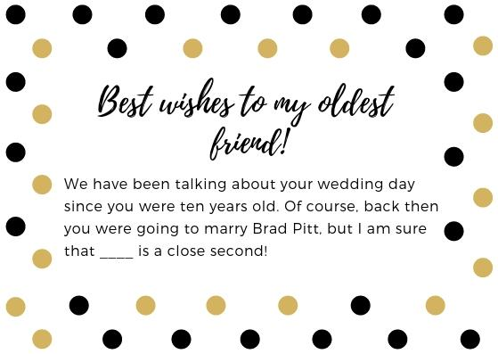 funny bridal shower wishes