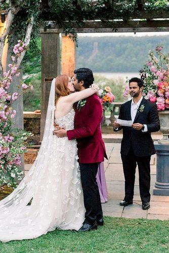 how to officiate a wedding newlyweds kiss ceremony