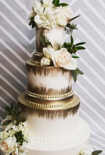 metallic wedding cake elegant gold cake shelbylynnscake