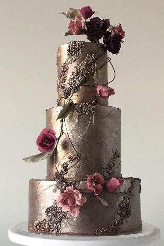 metallic wedding cake modern metallic cake jasmineraecakes