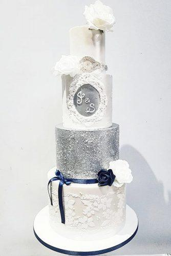 metallic wedding cake silver cake aliscakehouse