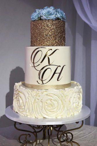 metallic wedding cake simple sparkle cake kitoscakes