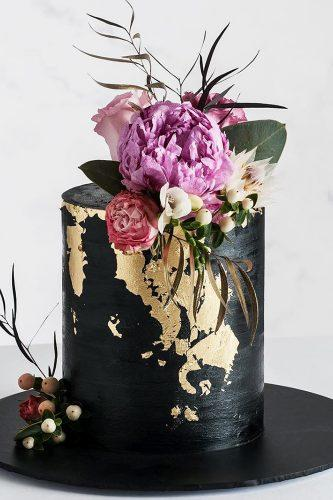 metallic wedding cake small black cake cake ink