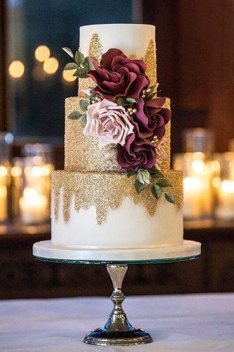metallic wedding cake white cake burgundy flower couture cakes katie sanderson