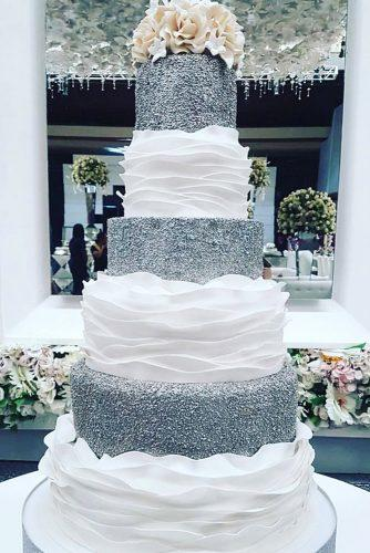 metallic wedding cake wonderful silver cake ediblecreationscakes