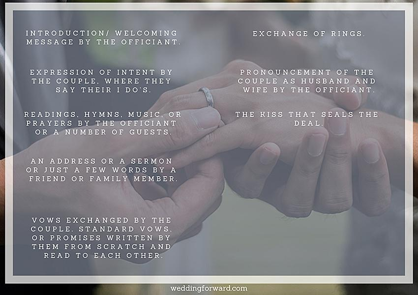 non-religious wedding ceremony outline