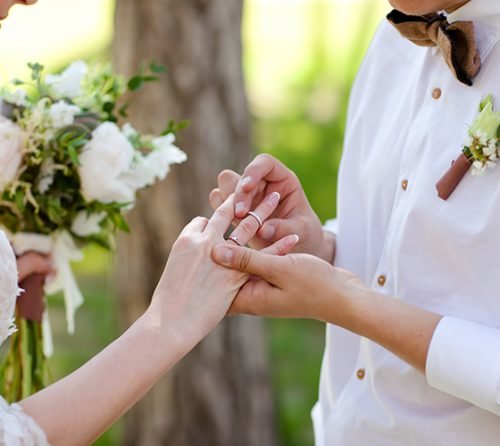 ring exchange wording wedding ring vows newlyweds