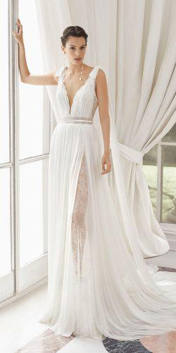rosa clara wedding dresses greek style plungin neckline sleeveless 2019