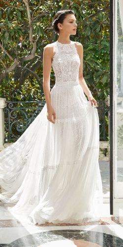 rosa clara wedding dresses halter neckline lace skirt for rustic 2019