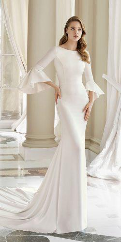 rosa clara wedding dresses mermaid with sleeves bateau neckline simple