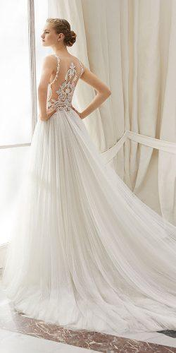 rosa clara wedding dresses romantic illusion lace back tattoo effect back