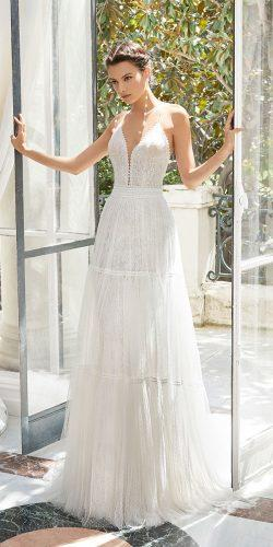 rosa clara wedding dresses rustic lace gown with spaghetti straps deep v neckline 2019