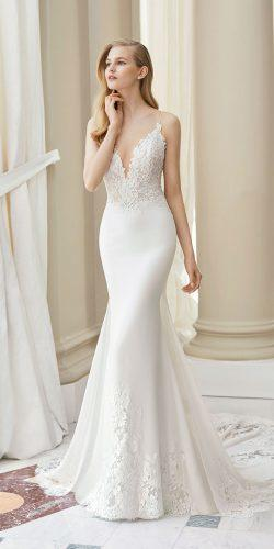 rosa clara wedding dresses sheath with spaghetti straps deep v neckline for beach