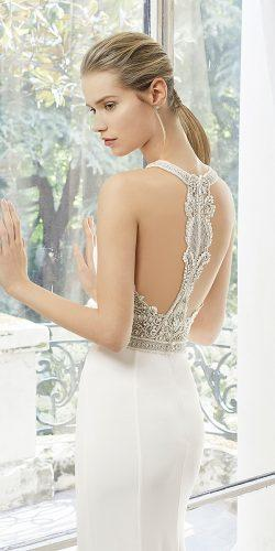 rosa clara wedding dresses straight skirt jewelled tatoo effect back 2019
