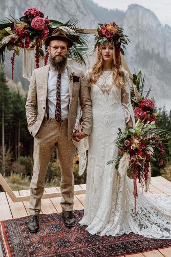rustic groom attire brown jacket with cap tie carolamichaela photo