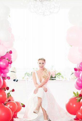valentines day wedding ideas bride near ombre balloon elizabethnordphoto