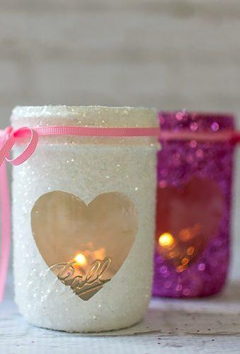 valentines day wedding ideas glitter jars masonjarcraftslove