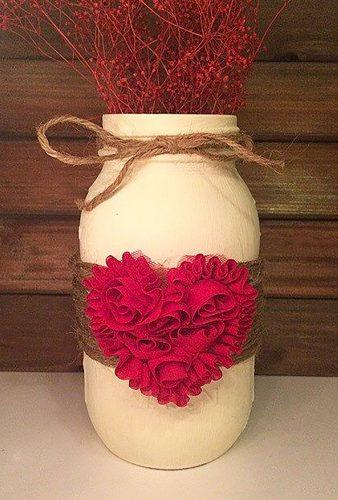 valentines day wedding ideas heart jars LeChicBoutiqueCo