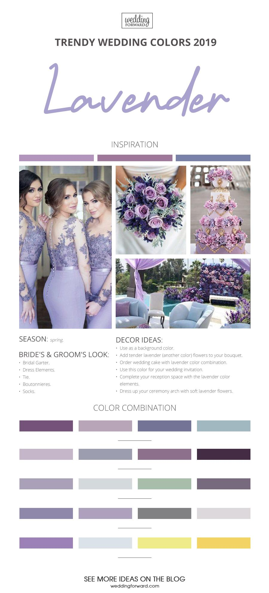 wedding colors 2019 lavender