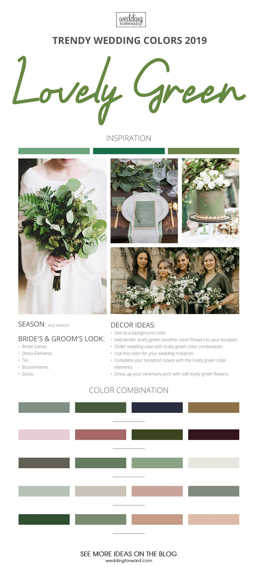wedding colors 2019 lovely green
