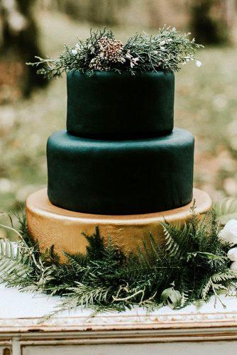 wedding colors 2019 moody dark green winter bridal cake luxenw