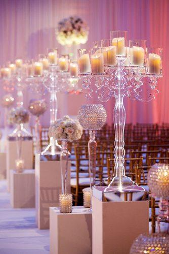 wedding decor 2019 aisle on ceremony decorated with clear acrylic and candles bobanddawndavis